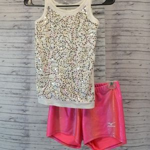 Youth S/M Sequin Dance/Gymnastics Outfit